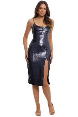 Misha Collection - Avery Pencil Dress - Navy - Front
