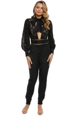 Misha Collection - Clara Pantsuit - Black - Front