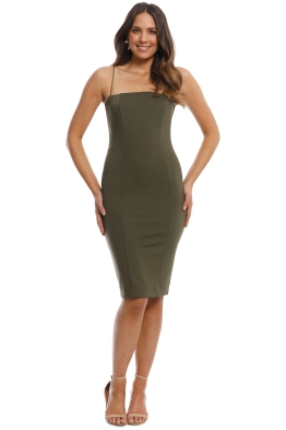 Misha Collection - Sophie Dress - Khaki - Front