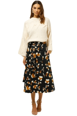 MNG-Contrasting-Knit-Sweater-Ecru-Front