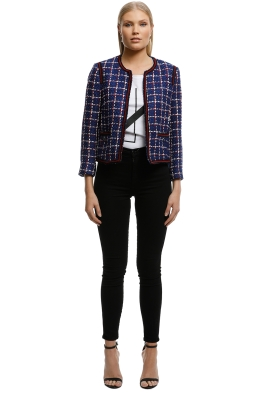 MNG-Tweed-Jacket-Blue-Front