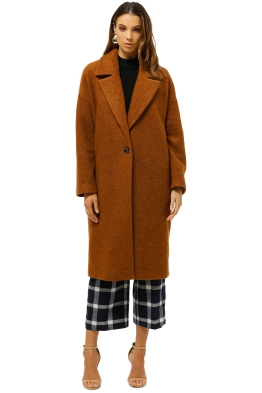 MNG-Unstructured-Virgin-Wool-Coat-Caramel-Front-Closed