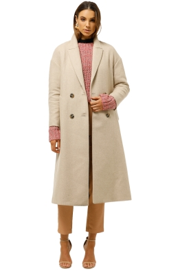 MNG-Unstructured-Wool-Blend-Coat-Beige-Front
