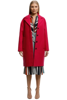 MNG-Unstructured-Wool-Blend-Coat-Fuchsia-Front