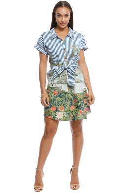 MNG - Simba-H Bow Shirt Dress - Print - Front