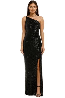 Montique-Elle-Sequin-Black-Gown-Black-Front