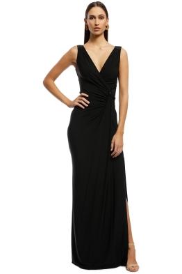 bf156903fcc8 Montique - Amalia Jersey Wrap Gown - Black - Front
