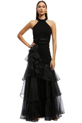 896287c84f3 Montique - Caprice Halter Gown - Black - Front