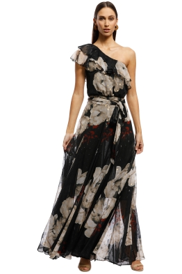 Montique - Inessa Gown - Black Floral - Front