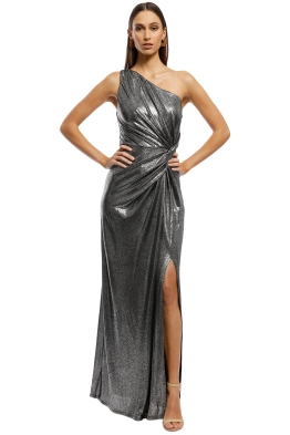 ae1a90cda8 Montique - Lopez One Shoulder Gown - Metallic - Front