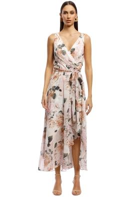 Montique - Rosie Print Chiffon Dress - Blush - Front