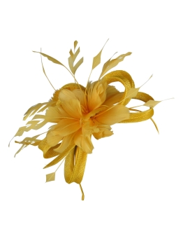 Morgan and Taylor - Nina Fascinator - Front - Yellow