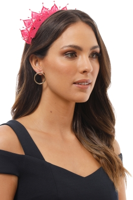 Morgan and Taylor - Elizabella Fascinator - Raspberry - Product Image