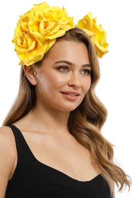 Morgan and Taylor - Maya Fascinator - Yellow - Product
