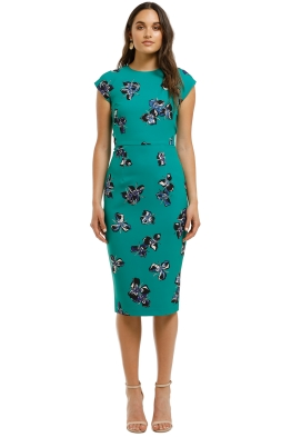 Moss-and-Spy-Valencia-Shift-Dress-Green-Front