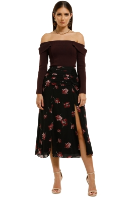 Nicholas-The-Label-Tuck-Skirt-Mulberry-Multi-Front