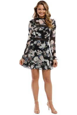 Nicholas - Thistle Floral Mini Dress - Multi - Front