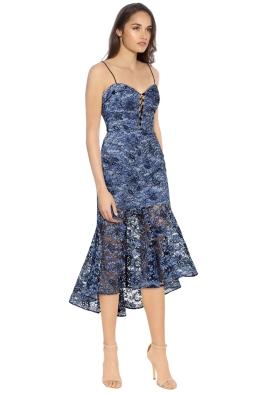 Nicholas - Whisper Lace Midi Dress - Black Blue - Side