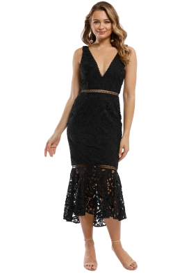 Nicholas the Label - Azalia Lace Plunge Dress - Black - Front