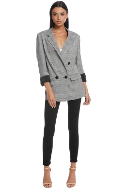 b545c792b7 Nicholas the Label - Check Grey Suiting Blazer - Front