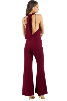 3ac14f9489 Nicholas the Label - Crepe Sleeveless Jumpsuit - Burgundy - Front