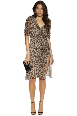 Nicholas the Label - Leopard Tea Dress - Print - Front