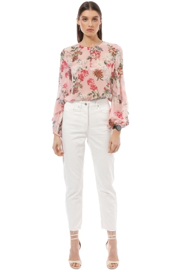 Nicholas the Label - Lilac Floral Yoke Blouse - Pink - Front
