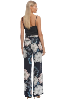 68e48cde4f Nicholas The Label - Navy Floral Palazzo Pant - Navy - Front