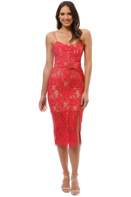 584276be52 Nicholas the Label - Rubie Lace Bra Dress - Watermelon - Front
