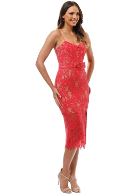 d3e260d885708 Nicholas the Label - Rubie Lace Bra Dress - Watermelon - Front