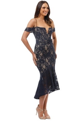 4cd12752b2 Nicholas the Label - Rubie Lace Corset Dress - Navy - Front