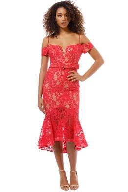 8cdd37e7b43 Nicholas the Label - Rubie Lace Corset Dress - Watermelon - Front