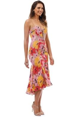 69142887af28a Nicholas The Label - Tropical Lace Flip Hem Dress - Multi - Front