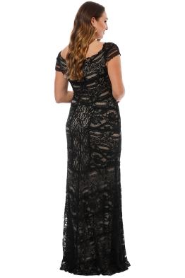 fef401c93296 Nicole Miller - Loren Stretch Lace Gown - Black - Front.