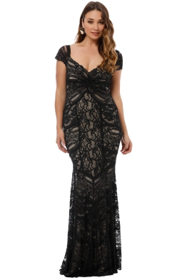 6f8aac2a629a Nicole Miller - Loren Stretch Lace Gown - Black - Front
