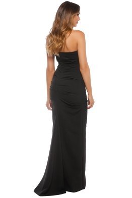 f643fecb959b Nicole Miller Tick Strapless Gown - Black - Front