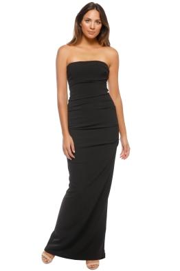3ec0c93e542 Nicole Miller Tick Strapless Gown - Black - Front