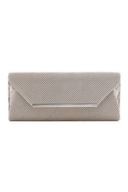 Olga Berg - Eloise Ball Mesh Clutch - Silver - Front
