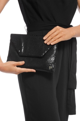 Olga Berg - Starlight Clutch - Black - Product
