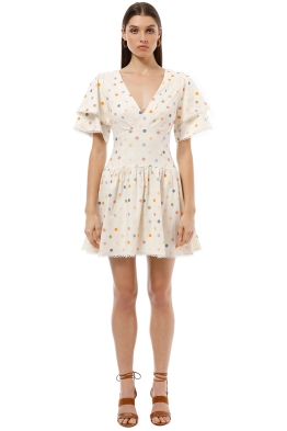 Pasduchas - Cosmo Spot Dress - Pastel - Front