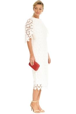 pasduchas duchess midi ivory front - White Christmas Dress