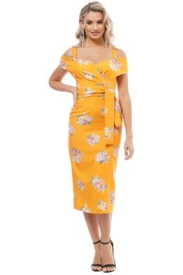 Pasduchas - Marvel Shoulder Midi Dress - Mango - Front