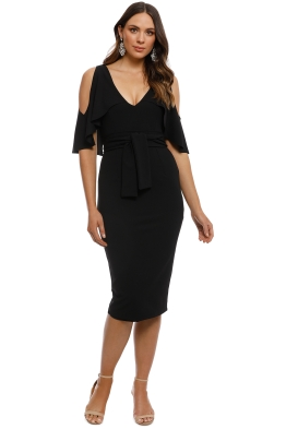 Pasduchas - Tuscan Midi Dress - Black - Front