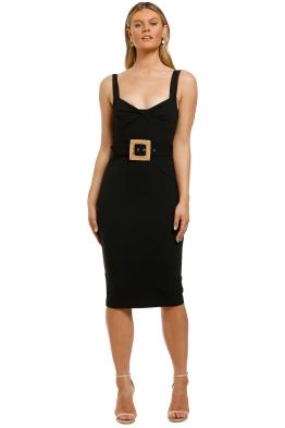 Pasduschas-Carlyle-Knot-Midi-Dress-Black-Front