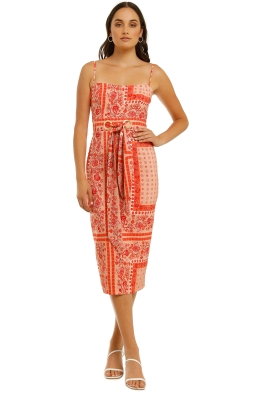 Pasuchas-Sunset-Scarf-Midi-Dress-Papaya-Front