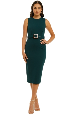 Pasuchas-Twilight-Midi-Dress-Pine-Front