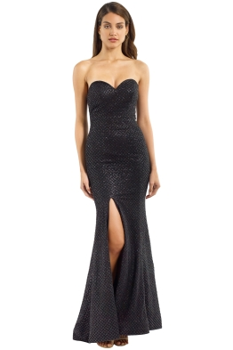 Portia and Scarlett - Tyra Gown - Black - Front
