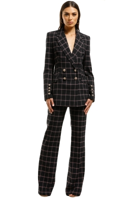 Rebecca-Vallance-Peta-Jacket-And-Pant-Set-Black-Check-Front