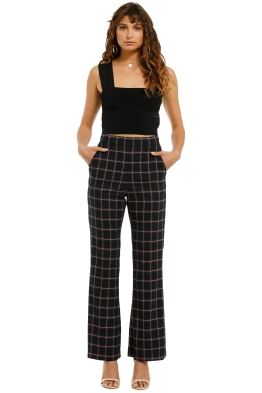 Rebecca-Vallance-Peta-Pants-Black-Check-Front