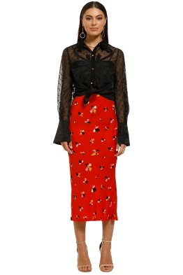 Rebecca-Vallance-Ruby-Skirt-Red-Print-Front